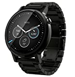 Motorola Moto 360 2nd Gen Smartwatch for Most Apple iOS and Android Cell Phones (Men's, 46mm, Black w/Black Metal)