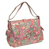 Kalencom Laminated Buckle Bag, Cotton Candy Paisley Pink