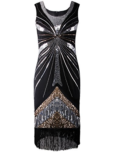 Vijiv-Womens-1920s-Vintage-Downton-Gatsby-Sequin-Embellished-Flapper-Dress