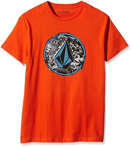 Volcom omsprock Circle Punk T-Shirt a maniche corte, Why Rock Red, S, C3531552WRR