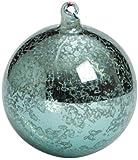 Sullivans - Antiqued Teal Blue Glass Ball Ornament 4