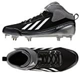 Adidas Q32974 Adizero 5-Tool 2.5 Men's Cleats (Black/Metallic Silver/ Neo.Iron Met)