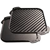 Lodge LSRG3 Single-Burner Reversible Grill/Griddle, 10.5-inch