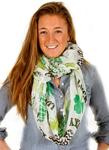 D&Y Women's St. Patrick's Day Lucky Pattern Infinity Scarf