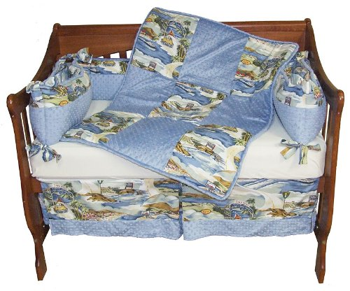 California Dreaming Chenille Surfer Baby Crib Bedding Set