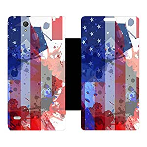 Skintice Designer Flip Cover with hi-res printed Vinyl sticker wrap-around for Sony Xperia C4