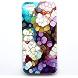 Iphone 5 Case, JAHOLAN Colorful Flash Light Clear Bumper TPU Soft Case Rubber Silicone Skin Cover for iphone 5s 5