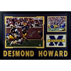 Desmond Howard Framed 16x20 Photo Signed JSA COA Autographed Michigan Wolverines