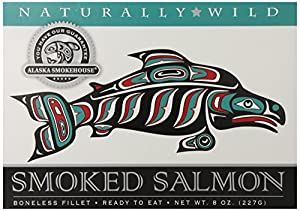 Alaska Smokehouse Smoked Salmon Fillet, 8 Ounce Gift Box