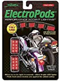 ElectroPods Flashing Red LED Motorcycle Brake Lights – Black Casing