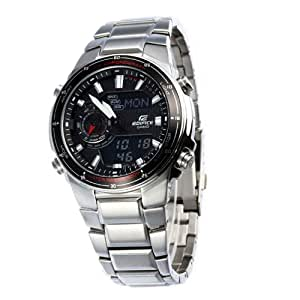 Casio Men's EFA131D-1A1V Silver Stainless-Steel Quartz Watch with Black Dial