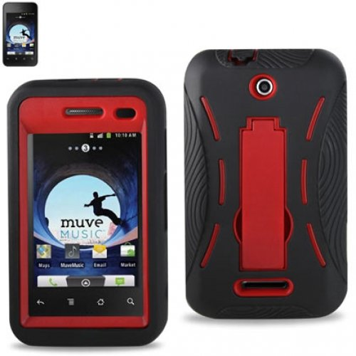 ZTE Score Hybrid Case with KickStand Red