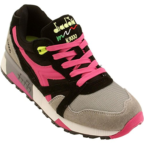 Diadora Women N9000 NYL (black / ice grey / magenta)-6