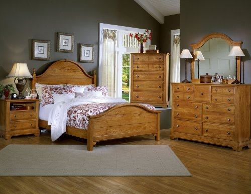 All-American Lodge Collection Panel Bedroom Set In Oak front-1013514