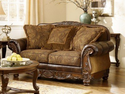 Fresco Dura Blend Antique Loveseat