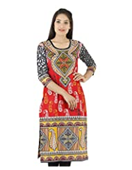 D2Nine Women's Cotton Round Neck Kurti - B0110HTN5E