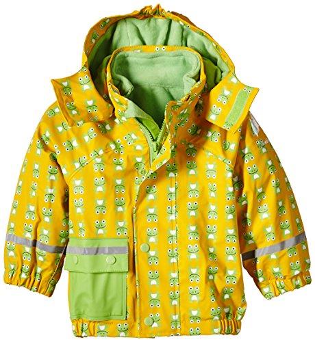 Sterntaler Baby - Jungen Regenmantel 5651511, Gr. 74, Mehrfarbig (Yellow/Green/safran 164)