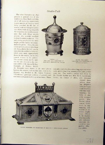 Studio 1915 Trophy Cup Dewar Tea Caddy Eadie Casket Czarkowy Country Mansion