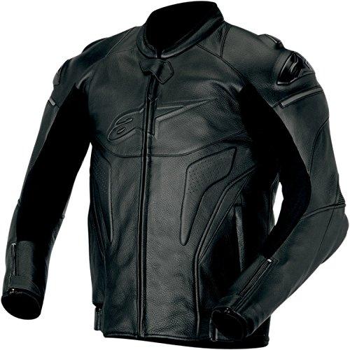 Alpinestars Phantom Men's Leather Sports Bike Motorcycle Jackets - Black / Size 48