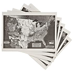 American Educational 15 Piece Landform Flat Maps Set