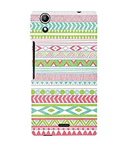 Diamond Pattern Wallpaper 3D Hard Polycarbonate Designer Back Case Cover for Micromax Canvas Selfie 2 Q340