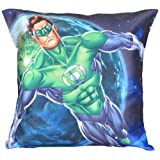MeSleep Warner Brother Digitally Printed Green Lantern Cushion Cover - Multicolor (WBgl-w-05-16)