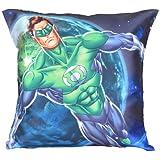 MeSleep Warner Brother Digitally Printed Green Lantern Cushion Cover - Multicolor (WBgl-w-05-16)