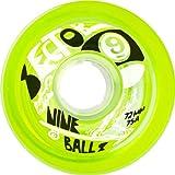 Sector 9 Top Self Nine Balls Skateboard Wheel, Green, 72mm 75A by Sector 9