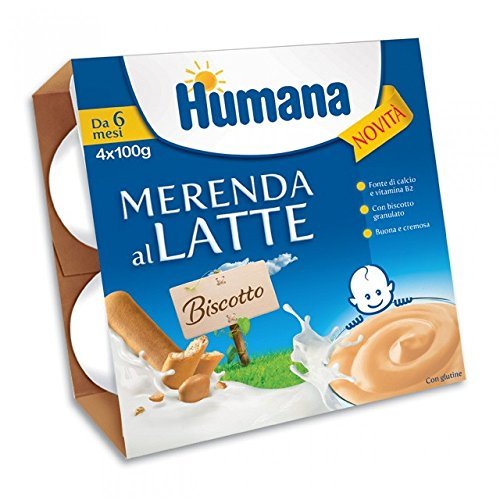 Humana merenda al latte Biscotto 4x400 gr
