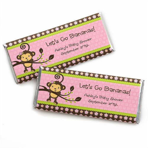 Baby Shower Candy Bar Wrappers - Monkey Girl front-714995