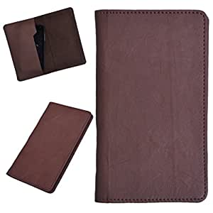 DCR Pu Leather case cover for Micromax Bolt AD3520 (brown)