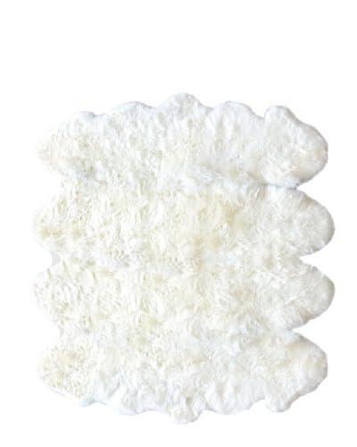 Natural Brand New Zealand Sheepskin Octo Rug, Natural, 7′ x 8′