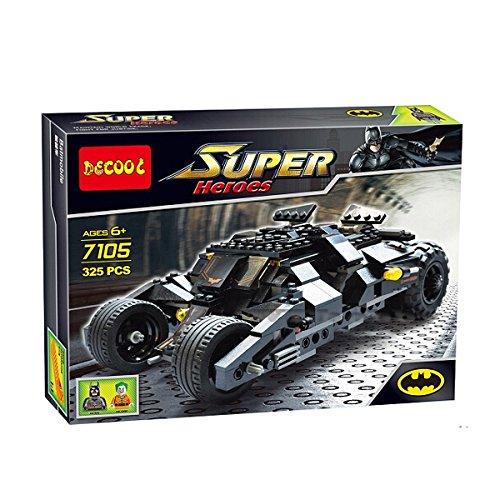 325pcs Batman the Tumbler Batmobile Joker Super Heroes Dc Building Blocks Marvel Set Minifigures Toy