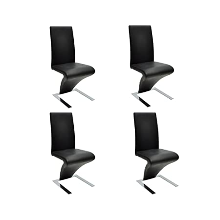 Set de 4 sillas de comedor color negro