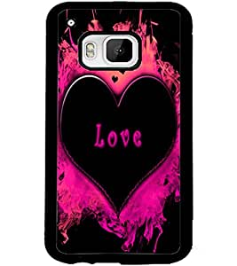 ColourCraft Love Heart Design Back Case Cover for HTC ONE M9