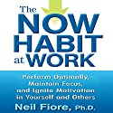 The Now Habit at Work: Perform Optimally, Maintain Focus, and Ignite Motivation in Yourself and Others Audiobook by Neil Fiore Narrated by Walter Dixon