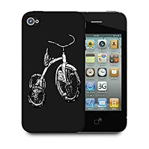 Snoogg Abstract Bicycle Designer Protective Back Case Cover For IPHONE 4