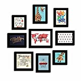 Art Street Set of 9 Quote Photo frames - Wanderlust theme wall quotes