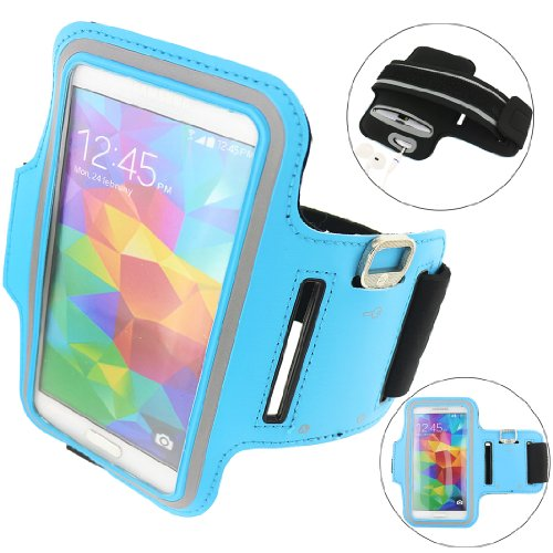 Ancerson New Adjustable Sports Sporty Pu Leather Armband Protective Sleeve Bag Slim Case Cover Shell Skin With Key Earphone Headset Headphone Holder Slot For Devices Not Bigger Than Galaxy S5: Mp3/Mp4/Mp5 Player, Ipod Touch 2 3 4 5, Ipod Touch 2 3 4 5, Ip