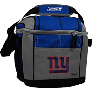 NFL New York Giants 24 Can Soft Sided Carry Coleman Cooler by Licensed Products