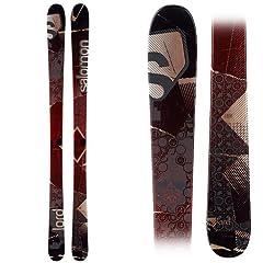 Buy Salomon Lord Skis Red Black Brown by Salomon