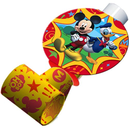 Mickey Mouse Party Favors - Mickey Blowouts - 8 Count