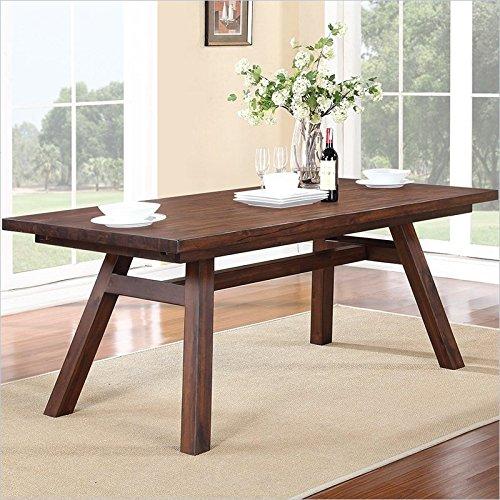 Modus 7Z4861R Portland Solid Wood Rectangular Extension Table, Walnut