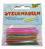 Folia 2399 - Sticknadeln aus Kunststoff (PP), circa 6,5cm x 1,8mm, 32 Stück, farbig sortiert hergestellt von Folia
