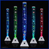 Stunning 90cm Colour Changing LED Mood Bubble Tower Lamp Fish Water Tube Floor Standing Lamp Light