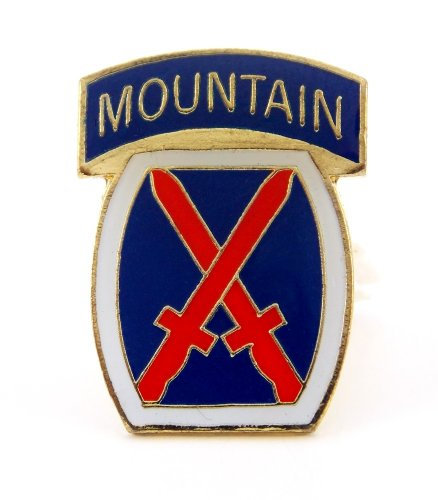 US Army 10th Infantry Division Mountain Lapel Hat Pin Gift Military PPM658