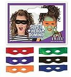 Super héroes Domino-máscara, en varios coloures