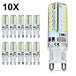 10X G9 Ampoule LED 4W Blanc Froid 320...