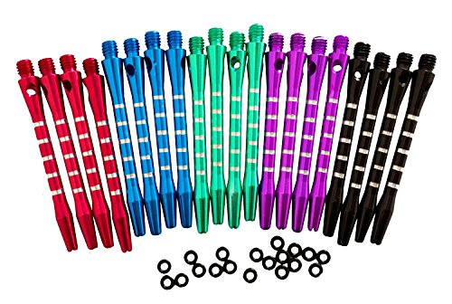 Find Bargain 53mm(20/30/40pcs) Aluminum Medium Darts Shafts Harrows Dart Stems Throwing Fitting with...