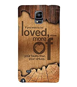 Wish To Be Love 3D Hard Polycarbonate Designer Back Case Cover for Samsung Galaxy Note 4 N910 :: Samsung Galaxy Note 4 Duos N9100